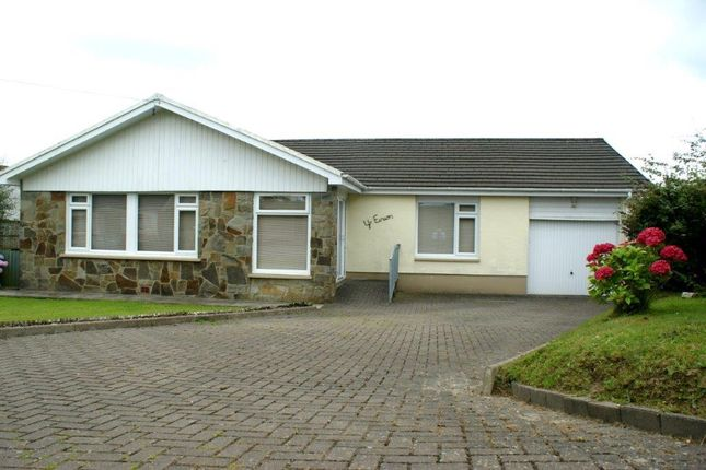 Thumbnail Detached bungalow for sale in Rhydargaeau, Carmarthen