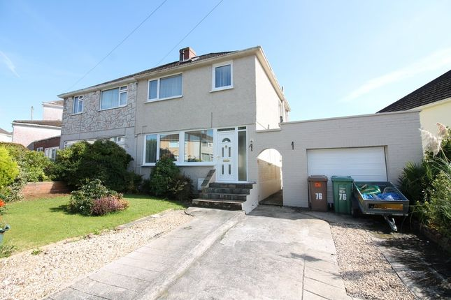 Thumbnail Semi-detached house for sale in St. Margarets Road, Plympton, Plymouth