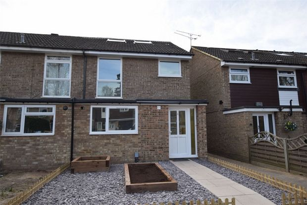 Thumbnail End terrace house for sale in Bramcote, Camberley, Surrey