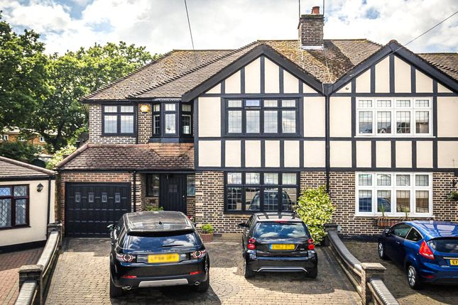 Thumbnail Semi-detached house for sale in Murtwell Drive, Chigwell, Essex