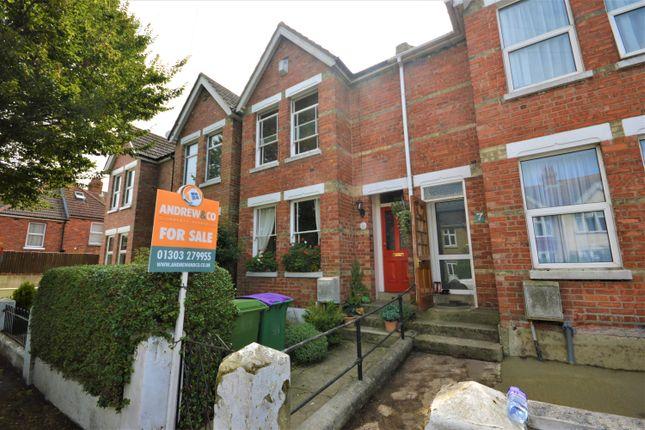 Thumbnail Terraced house for sale in Chart Road, Cheriton, Folkestone