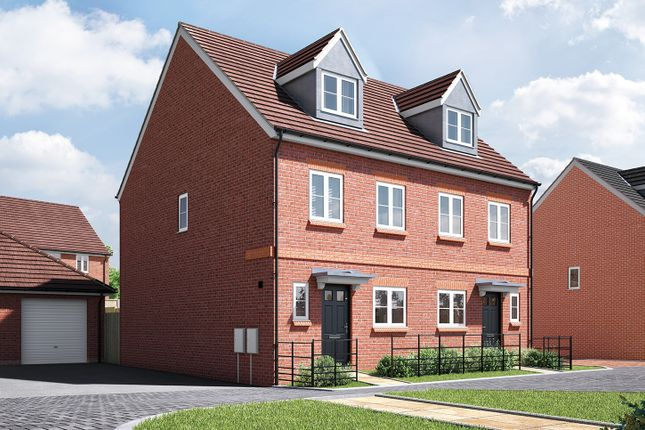 "Thumbnail Semi-detached house for sale in ""The Trevail"" at Wood Lane, Binfield, Bracknell"