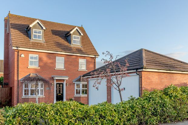 Thumbnail Detached house for sale in Wake Way, Northampton