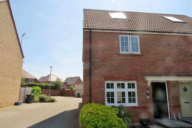 Thumbnail Semi-detached house for sale in Comet Crescent, Calne