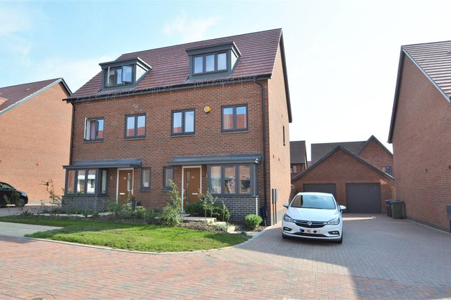 Thumbnail Semi-detached house for sale in Shaughnessy Way, Houlton, Rugby