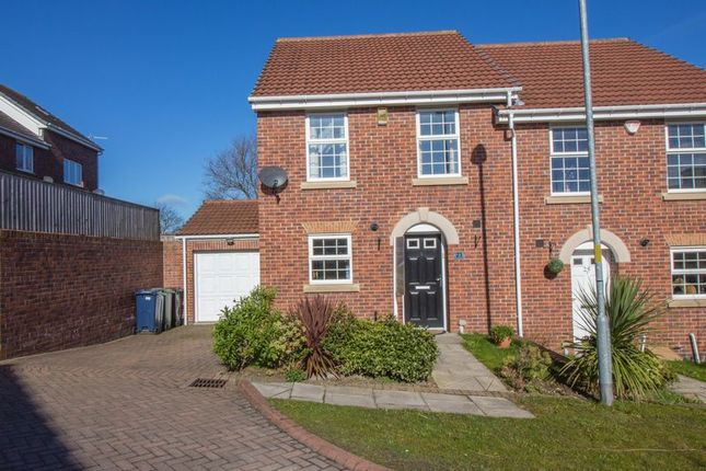 Thumbnail Semi-detached house for sale in Dockendale Place, Blaydon-On-Tyne