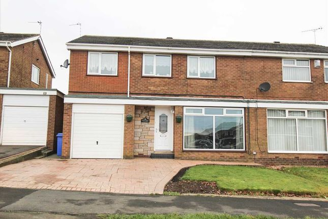 Thumbnail Semi-detached house for sale in Newlyn Drive, Parkside Dale, Cramlington