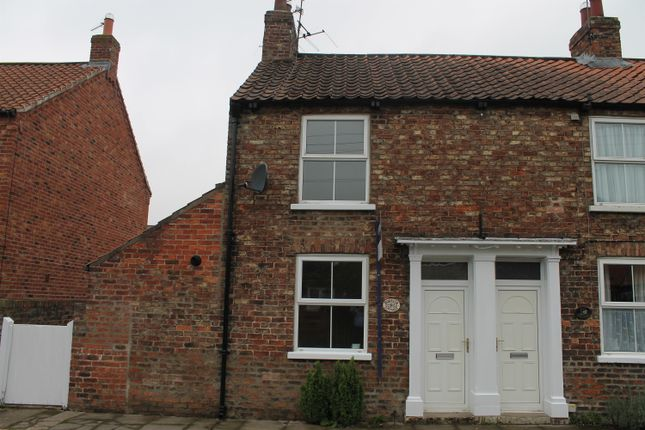 Thumbnail End terrace house to rent in Back Lane, Easingwold, York