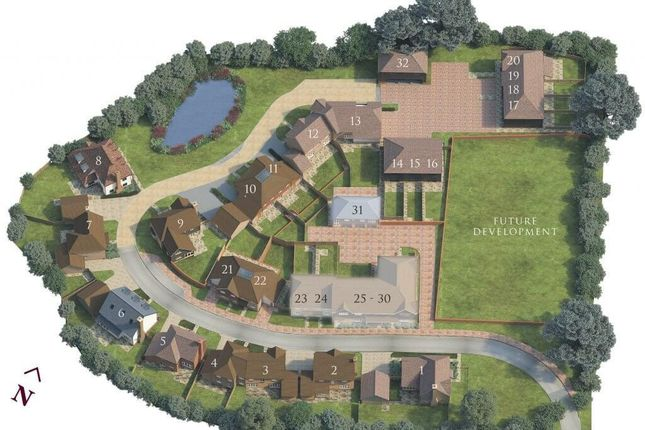Site Map of Cherry Tree Lane, Ewhurst, Surrey GU6