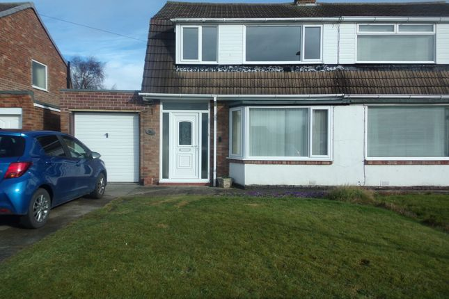Thumbnail Semi-detached house to rent in Kingsdale Avenue, Blyth