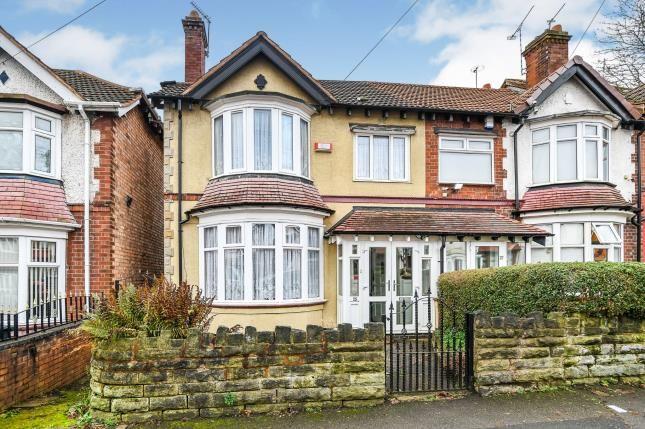 Front Views of Upper Grosvenor Road, Handsworth, Birmingham, West Midlands B20