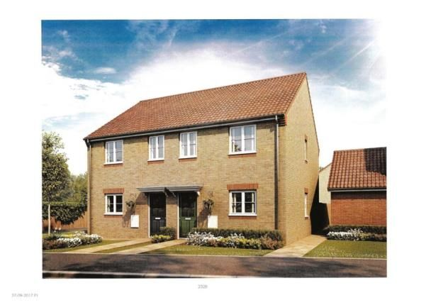 Thumbnail End terrace house for sale in Northfields Road - Market Deeping, Harrier Way