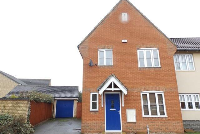 Thumbnail Semi-detached house for sale in Damselfly Road, Ipswich