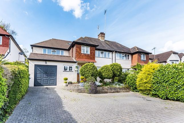Thumbnail Semi-detached house for sale in Woodcote Valley Road, Purley