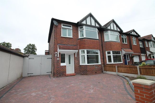 Thumbnail Semi-detached house to rent in Barnfield, Urmston, Manchester
