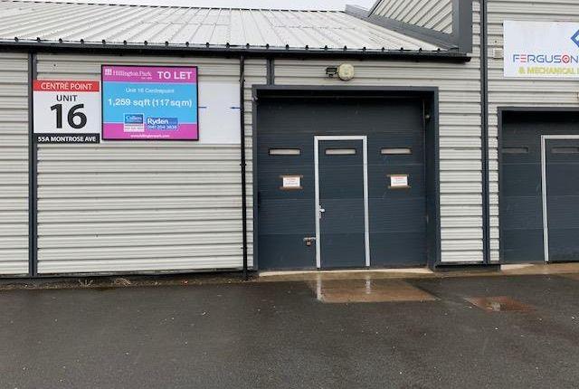 Thumbnail Light industrial to let in Unit 16, Centrepoint, 47-68 Montrose Avenue, Hillington, Glasgow, Lanarkshire