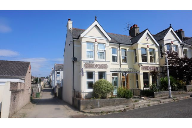 Thumbnail End terrace house for sale in Edgcumbe Park Road, Plymouth