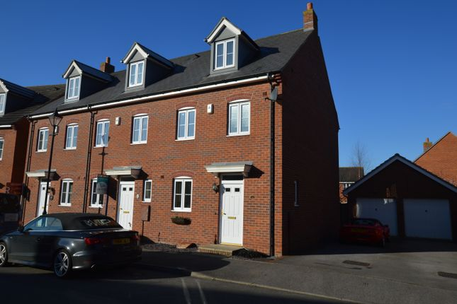 Thumbnail End terrace house to rent in Whitebeam Drive, Witham St Hughs