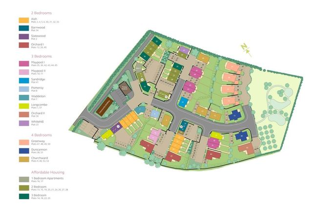 Site Plan of Paignton Road, Stoke Gabriel, Totnes TQ9