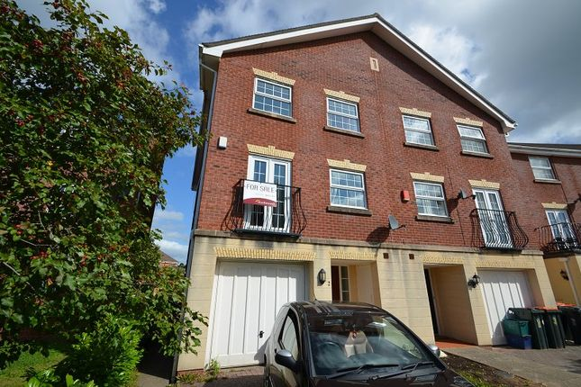 Thumbnail Town house for sale in Cambrian Crescent, Marshfield, Cardiff