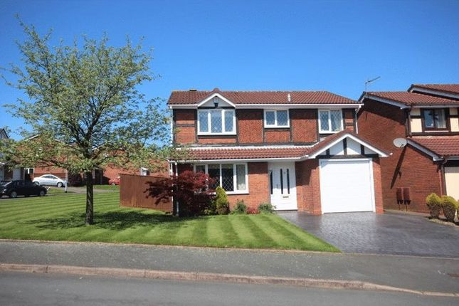 Thumbnail Detached house to rent in Hatherton Close, Newcastle-Under-Lyme