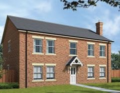 "Thumbnail Detached house for sale in ""The Malham"" at Surtees Drive, Willington, Crook"