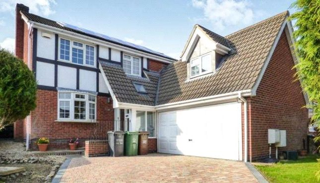Thumbnail Detached house for sale in Montague Drive, Loughborough, Leicestershire
