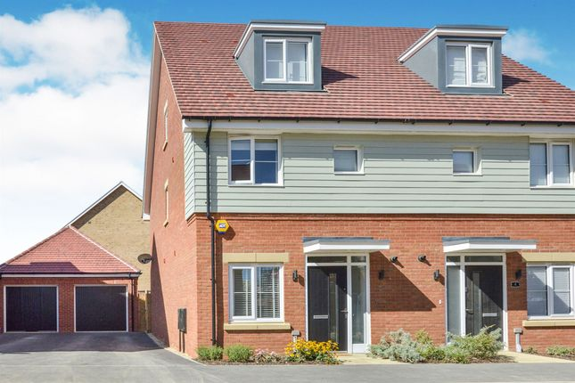 Thumbnail 3 bed semi-detached house for sale in Salorn Way, Whitehouse, Milton Keynes