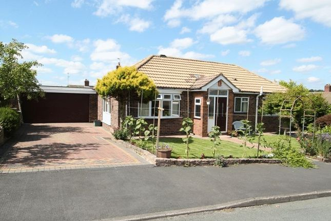 Thumbnail Detached bungalow for sale in Plover Fields, Madeley, Crewe