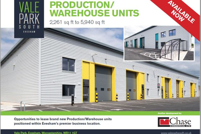 Thumbnail Industrial to let in Aparagus Way, Vale Park, Evesham