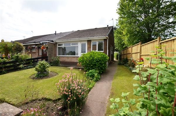 Thumbnail Semi-detached bungalow for sale in Apedale Road, Chesterton, Newcastle-Under-Lyme