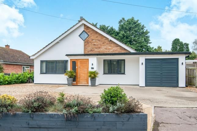 Thumbnail Bungalow for sale in Great Hockham, Thetford, Norfolk