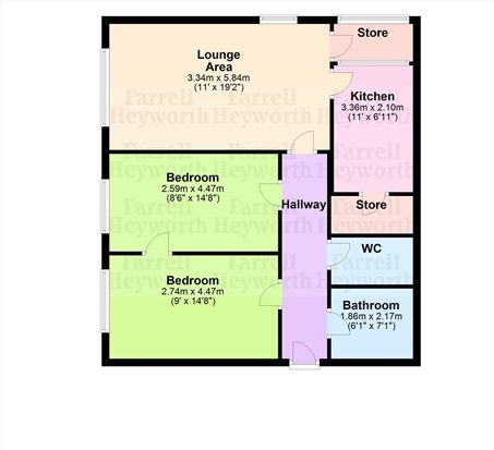 Floor Plan of Avenham Lane, Preston PR1