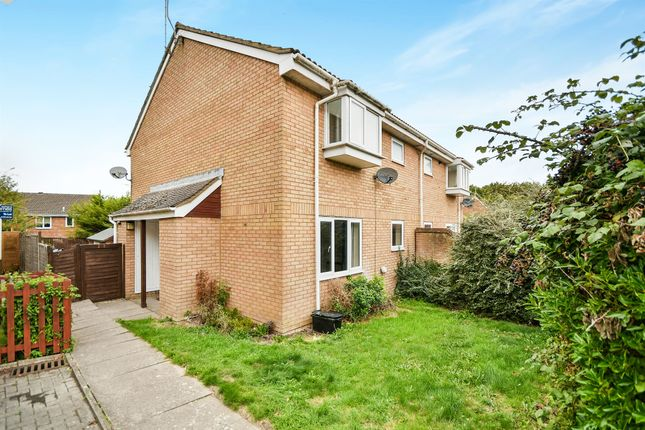 Thumbnail End terrace house for sale in Boydell Close, Shaw, Swindon