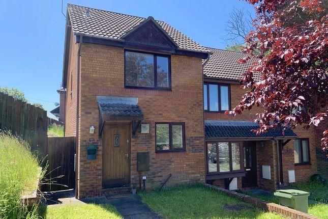 Thumbnail End terrace house to rent in Ffordd Ddu, Pyle, Bridgend