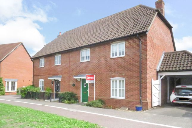 Thumbnail Semi-detached house for sale in Abell Way, Springfield, Chelmsford