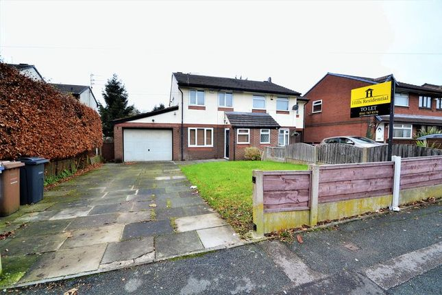 Thumbnail Semi-detached house to rent in Abbeydale Gardens, Worsley, Manchester