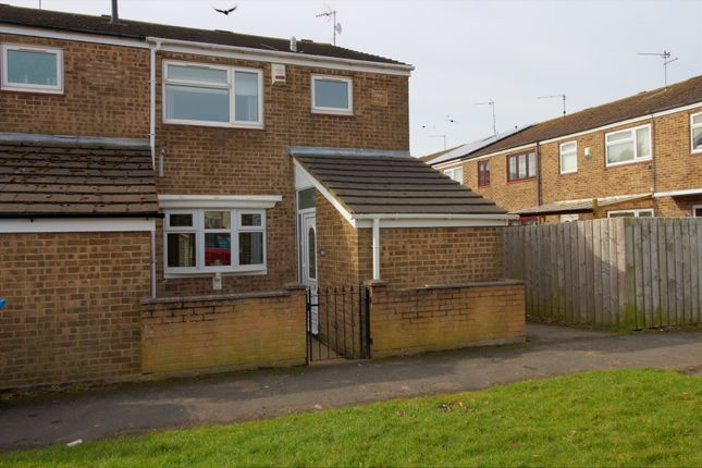 Thumbnail End terrace house for sale in Blandford Close, Bransholme, Hull
