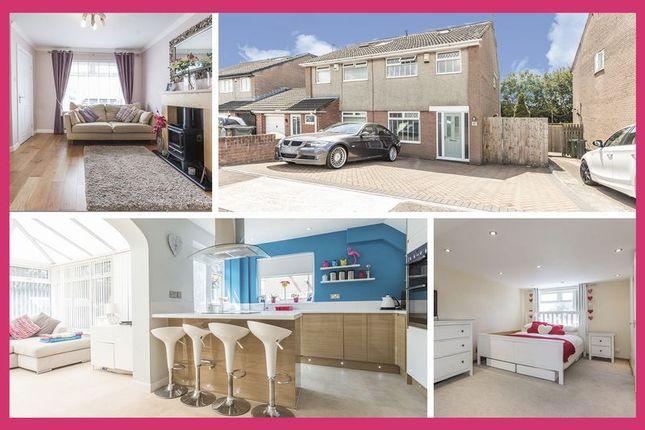 Thumbnail Semi-detached house for sale in Heol Urban, Llandaff, Cardiff