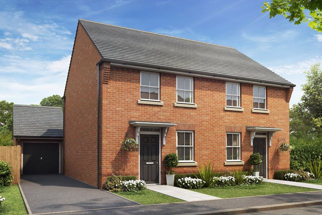 "Thumbnail Semi-detached house for sale in ""Arley"" at Rykneld Road, Littleover, Derby"