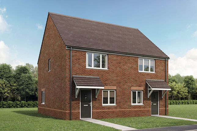 """Thumbnail Semi-detached house for sale in """"The Hardwick"""" at Gallows Hill, Warwick"""