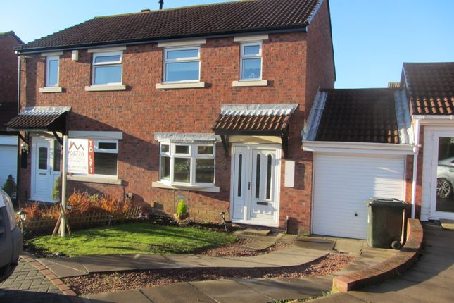 Thumbnail Semi-detached house to rent in Hickstead Close, Wallsend