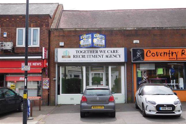 Thumbnail Retail premises to let in 221 Burnaby Road, Coventry, West Midlands