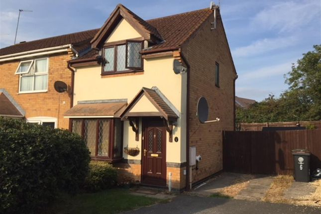 Thumbnail End terrace house for sale in Pevensey Close, Rushden