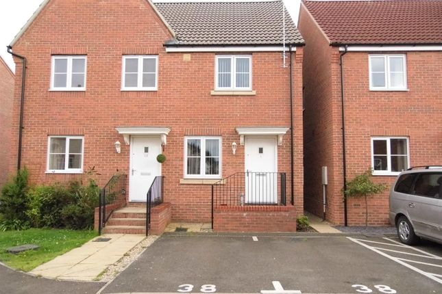 Thumbnail Semi-detached house for sale in Churn Court, King's Lynn