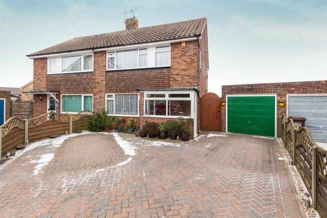 Thumbnail Semi-detached house for sale in Angela Close, Bexhill-On-Sea