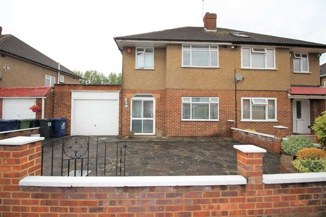 Thumbnail Semi-detached house to rent in Nutfield Gardens, Yeading, Hayes