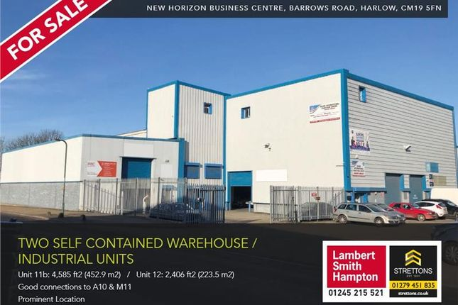Thumbnail Warehouse for sale in New Horizon Business Centre, Unit 11B, Barrows Road, Harlow, Essex