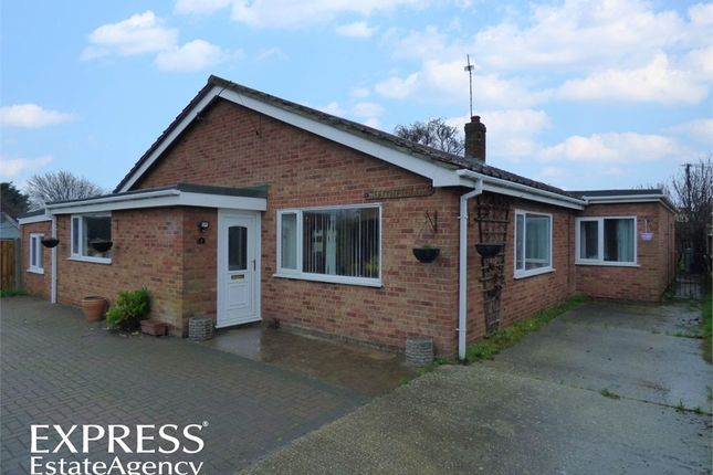 Thumbnail Detached bungalow for sale in Fakes Road, Hemsby, Great Yarmouth, Norfolk