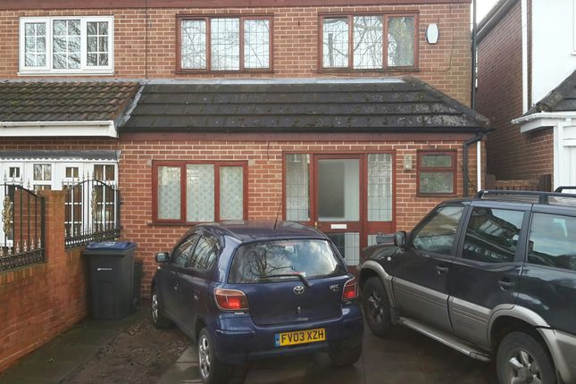 Thumbnail Semi-detached house to rent in Wood Lane, Birmingham